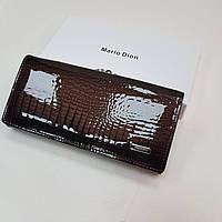 Женский кожаный кошелек Mario Dion из натуральной кожи коричневый