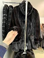 Шкіряна куртка жилет з хутра лами 42 44 46