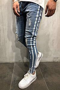 "Мужские стрит-ретро джинсы ""Fashion casual"""