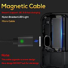 Оригинальный магнитный кабель TOPK C0121 F-Line Micro-USB 2.4A Black (CS0121110310), фото 3