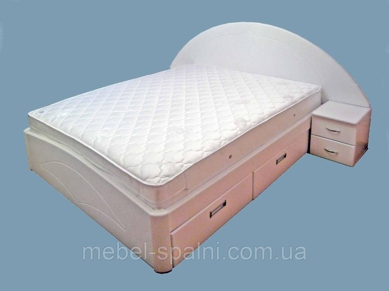 """Кровать 2 спальная. Кровать двуспальная деревянная с ящиками """"Людмила"""" kr.lm6.3"""