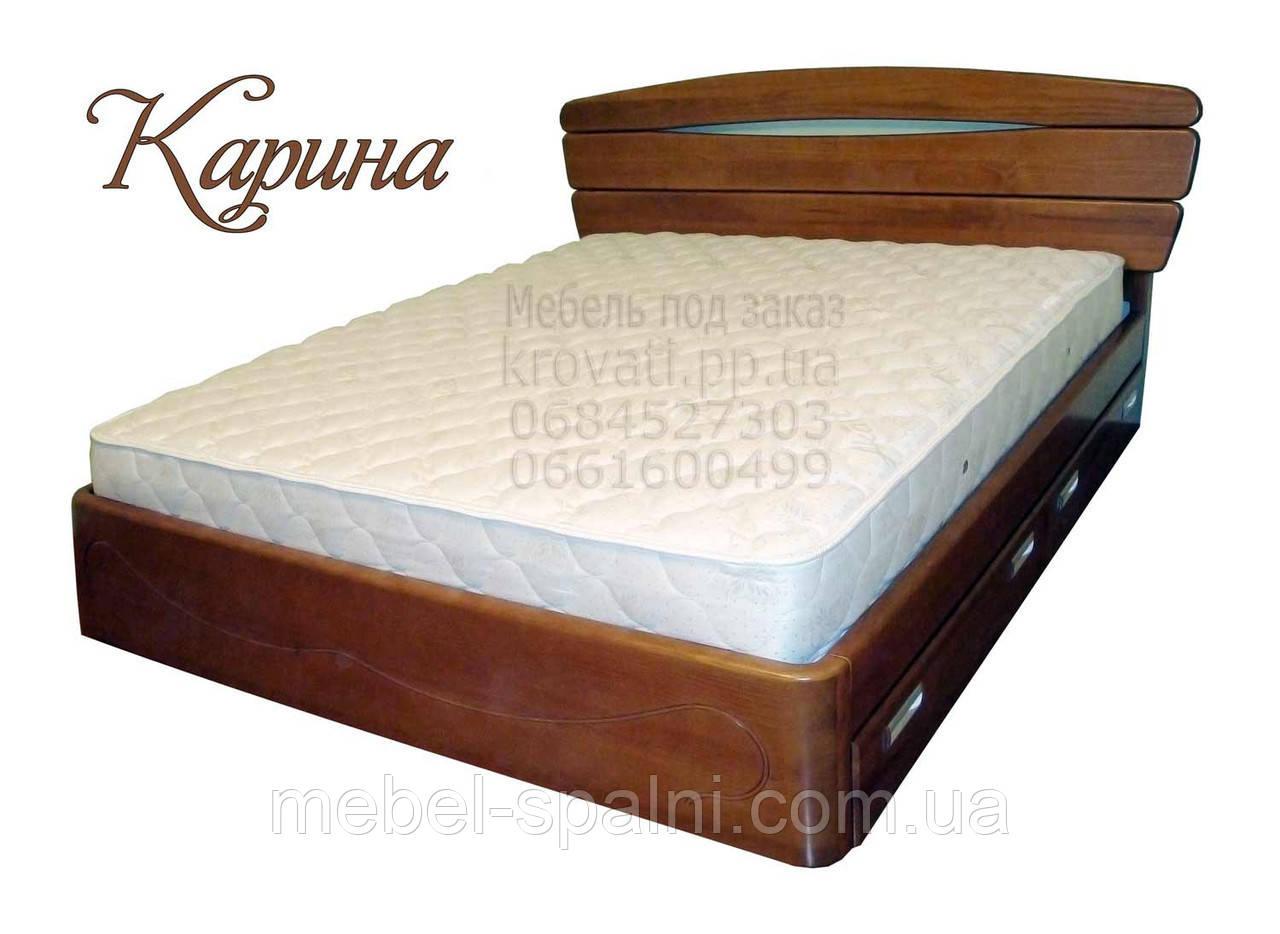 """Кровать 2 спальная. Кровать двуспальная деревянная с ящиками """"Карина"""" kr.kn6.1"""