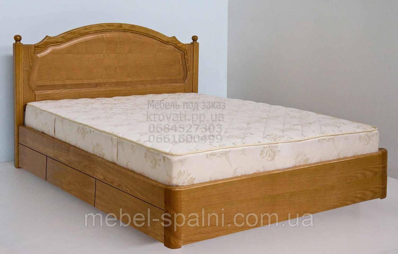 """Кровать 2 спальная. Кровать двуспальная деревянная с ящиками """"София"""" kr.sf6.1"""
