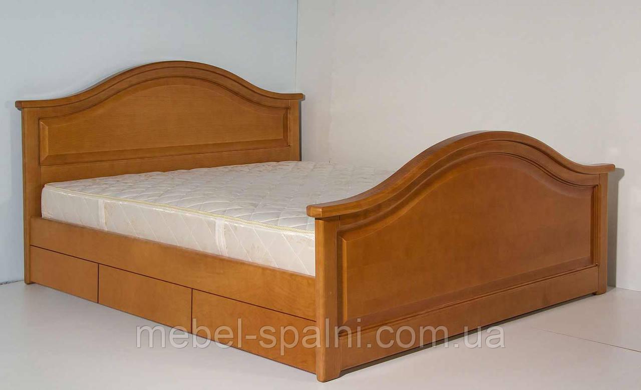 """Кровать 2 спальная. Кровать двуспальная деревянная с ящиками """"Галина"""" kr.gn6.1"""