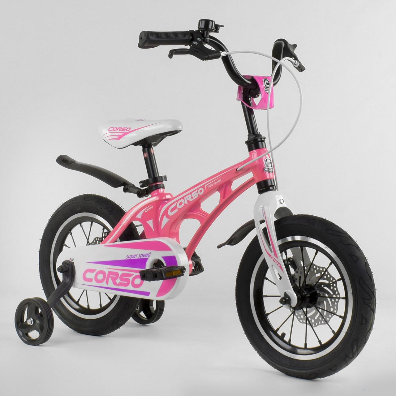 """Велосипед 14"""" дюймов 2-х колёсный """"CORSO"""" MG-14 S 706 Гарантия качества Быстрая доставка"""