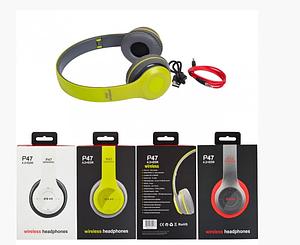 Беспроводные наушники Wireless P47 (Bluetooth, MP3 плеер, FM приемник)