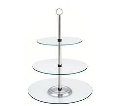 Фуршетная стойка трехъярусная Krauff 26-238-004