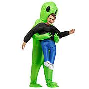 Надувной костюм инопланетянина, костюм зеленый инопланетянин, что похищает человека 150~190см