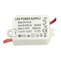 Источник тока 300мА 3-12В AC85-265V