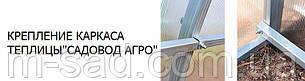 Теплица Садовод -18м²(300*600*200см)поликарбонат 4мм,шаг дуги 1м, фото 2