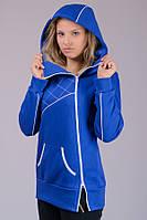 Женская трикотажная куртка  с начесом Sport (электрик)