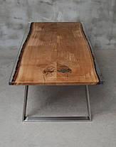 Стол из массива дерева с эпоксидной смолой река лофт мебель дуб ясень орех тополь, фото 2