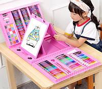 Набір для малювання Mega Art з мольбертом РSUNROZ Рожевий