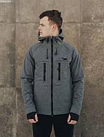 Мужская куртка легкая с капюшоном Staff soft shell grafit