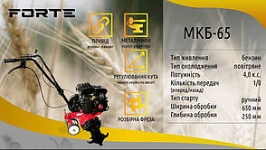Культиватор бензиновый Forte МКБ-65