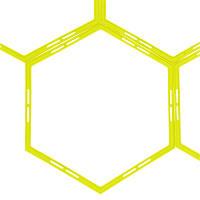 Тренувальна підлогова сітка (гексагональна 1шт) Agility Grid C-1412