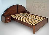 """Двухспальная кровать для двоих. Кровать двуспальная деревянная с тумбами """"Людмила"""" kr.lm3.1"""
