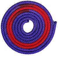 Скакалка для художественной гимнастики 3м 2-х цветная C-1657 Красно-фиолетовый