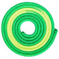 Скакалка для художественной гимнастики 3м 2-х цветная C-1657 Зелено-салатовый