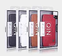 """Кожаный чехол (книжка) Nillkin Qin Series для Apple iPhone 6/6s (4.7"""") Черный"""