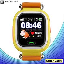 Детские Умные часы с GPS Smart baby watch Q90 желтые - Детские смарт часы-телефон с трекером и кнопкой SOS, фото 2