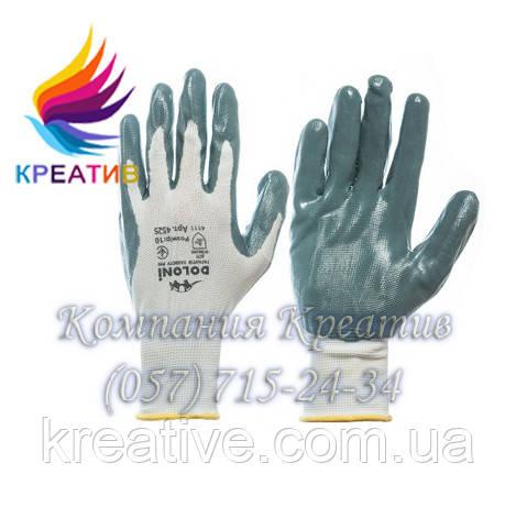 Перчатки из нейлона +нитрил (от 50 шт.)