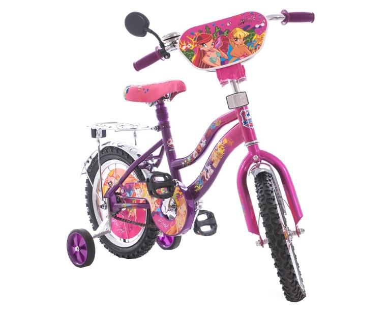 Детский велосипед Mustang Winx 18 дюймов фиолетовый