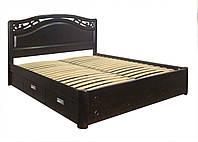 """Двухспальная кровать для двоих. Кровать двуспальная деревянная с ящиками """"Марго"""" kr.mg6.1"""