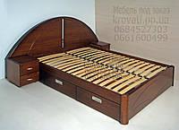 """Двухспальная кровать для двоих. Кровать двуспальная деревянная с ящиками """"Людмила"""" kr.lm6.1"""