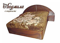 """Двухспальная кровать для двоих. Кровать двуспальная деревянная с подъёмным механизмом """"Людмила"""" kr.lm7.2"""