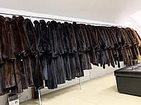 Яскраве кашемірове пальто з норковим коміром