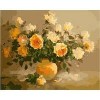 Рисования по номерам Идейка Нежно-желтые розы,