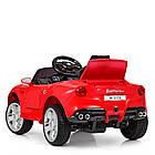 Детский электромобиль Ferrari M 3176 EBLR-3 красный, фото 6