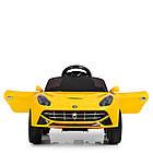 Детский электромобиль Ferrari M 3176 EBLR-6 желтый, фото 3