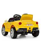 Детский электромобиль Ferrari M 3176 EBLR-6 желтый, фото 6