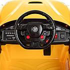 Детский электромобиль Ferrari M 3176 EBLR-6 желтый, фото 8