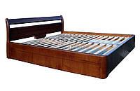 """Кровать двуспальная с матрасом. Кровать деревянная с ящиками """"Валентина"""" kr.vn6.1"""