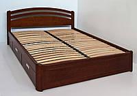 """Кровать двуспальная с матрасом. Кровать деревянная с ящиками """"Натали"""" kr.nt6.1"""