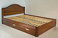 """Кровать двуспальная с матрасом. Кровать деревянная с ящиками """"Виктория"""" kr.vt6.1"""