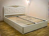 """Кровать двуспальная с матрасом. Кровать деревянная с ящиками """"Анастасия"""" kr.as6.2"""
