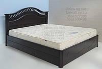 """Кровать двуспальная с матрасом. Кровать деревянная с ящиками """"Глория"""" kr.gl6.1"""