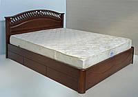 """Кровать двуспальная с матрасом. Кровать деревянная с ящиками """"Глория"""" kr.gl6.2"""