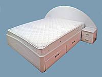 """Кровать двуспальная с матрасом. Кровать деревянная с ящиками """"Людмила"""" kr.lm6.3"""
