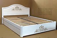 """Кровать двуспальная с матрасом. Кровать деревянная с подъёмным механизмом """"Виктория"""" kr.vt7.2"""