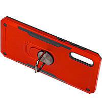 Ударопрочный чехол SG Ring Color магнитный держатель для Samsung Galaxy A50 (A505F) / A50s / A30s Красный