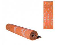 Йогамат MS 1845-1(Orange) Оранжевый ПВХ