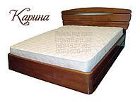 """Кровать двуспальная с матрасом. Кровать деревянная с подъёмным механизмом """"Карина"""" kr.kn7.1, фото 1"""