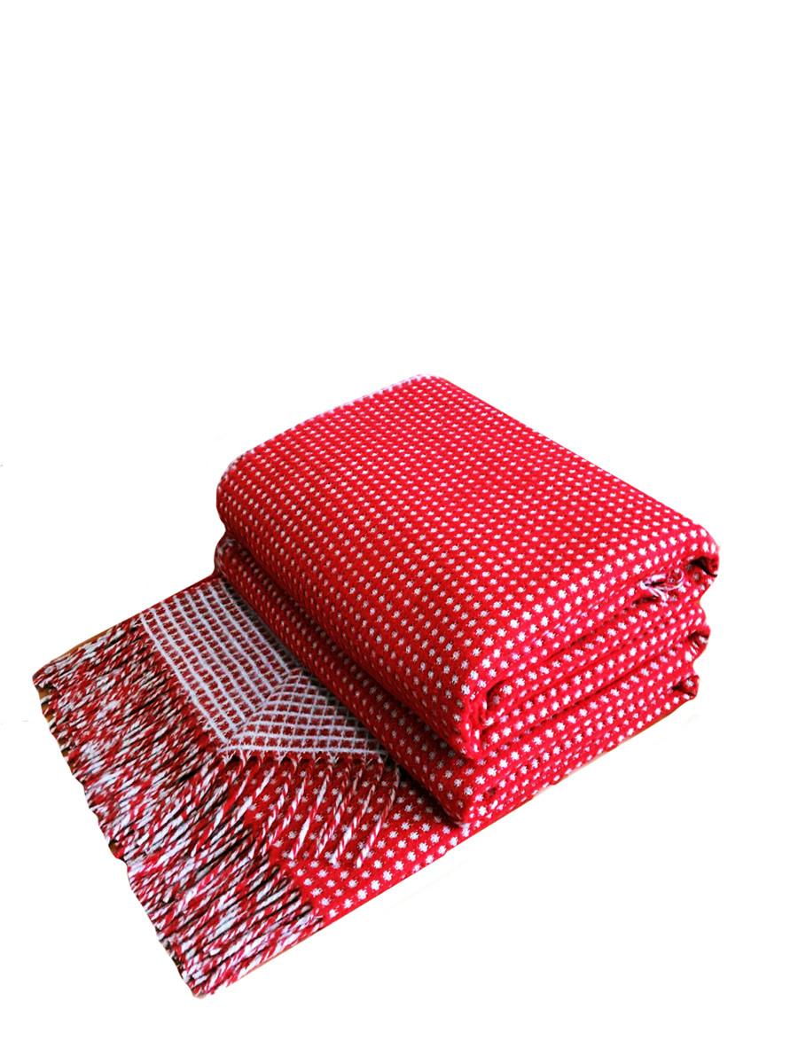 Плед хлопковый Модерн серо-красный Love You (4204) 140x200 см