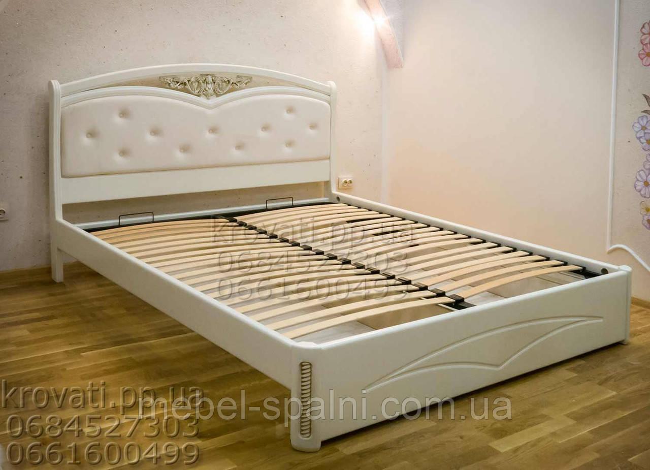 """Кровать двуспальная Одесса. Кровать деревянная """"Анастасия"""" kr.as3.3"""