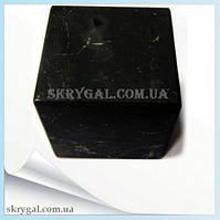 Шунгитовый куб  полированный 7 см.